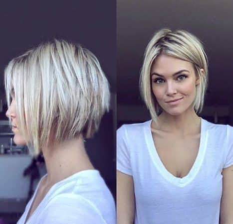 Short Hair Bob Cut in Long Layers