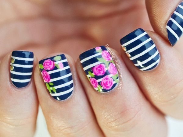 Nail designs with flower