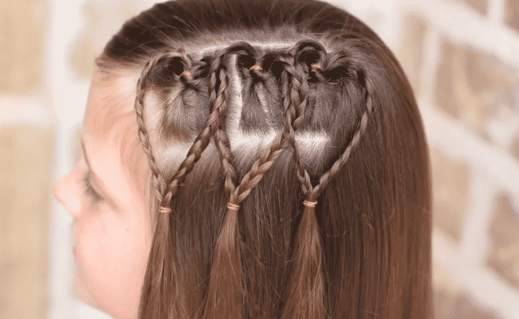 HAIRSTYLES WITH HEART BRAINS FOR GIRLS