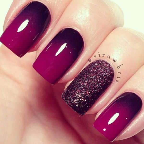 imágenes uñas moradas degradadas