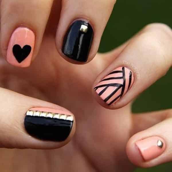 uas decoradas negro y rosa