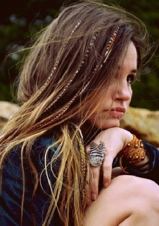 Long Boho Chic hair with whole braids