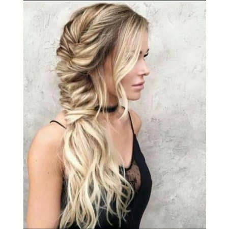 Long layered Boho Chic hair with braids