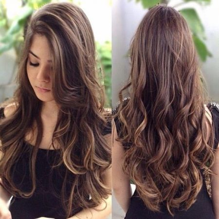 Long hair with waves