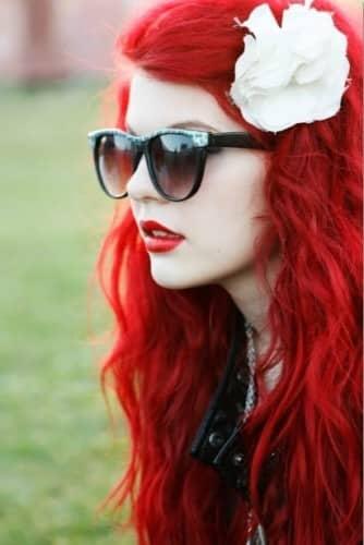 cabello rojo fotos