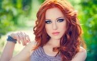 cabello rojo peinados