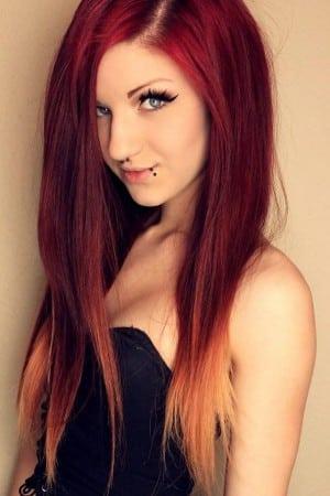 cambio de look cabello rojo