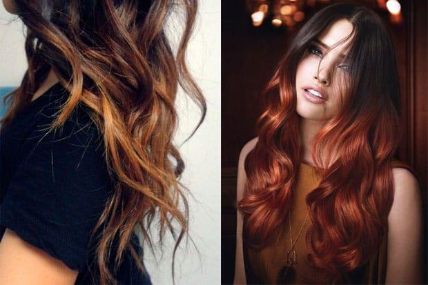 borgoña tinte cabello