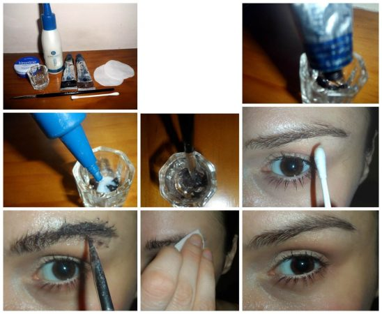 como aplicar tinte para cejas pasos