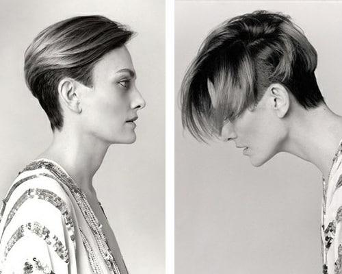 Se corta el pelo arriba y abajo