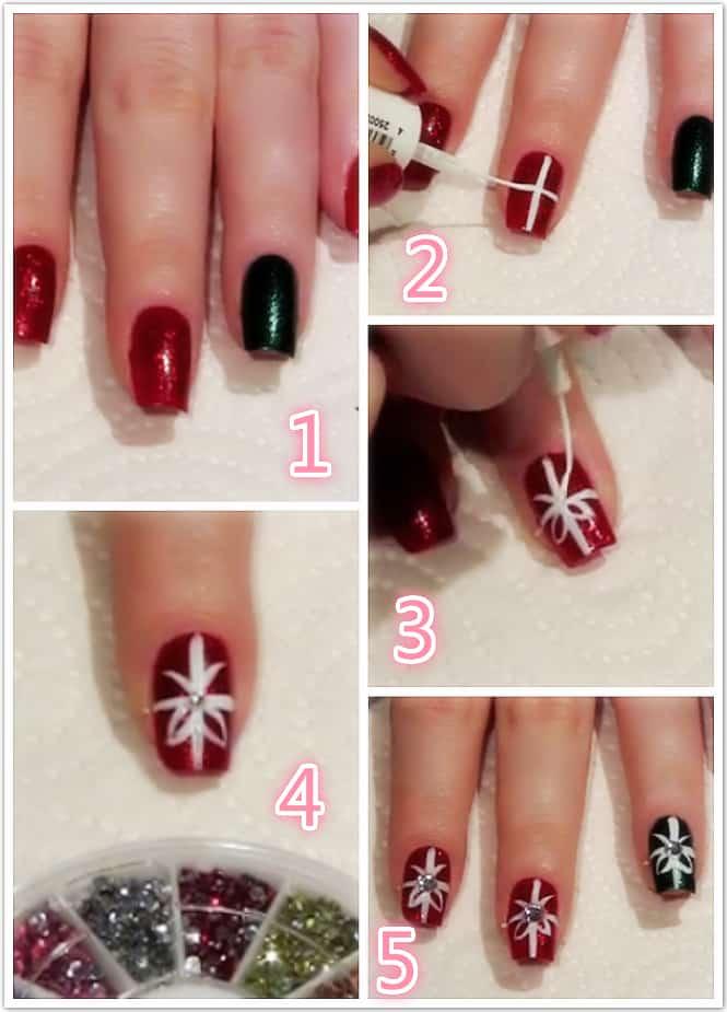 Decoración para uñas de navidad