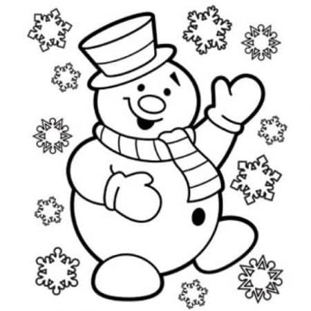 dibujos de navidad para colorear muneco nieve