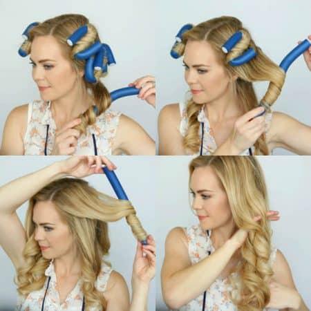 hacer ondas pelo bigudies