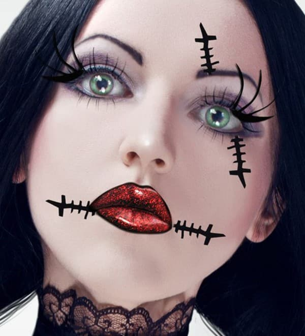 37 ideas de maquillaje para halloween para mujeres paso a paso - Pintura cara halloween ...