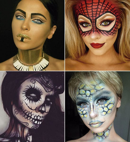 37 Ideas De Maquillaje Para Halloween Para Mujeres Paso A Paso - Cara-pintada-para-halloween