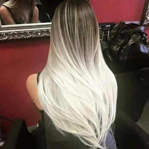 mechas californianas blancas