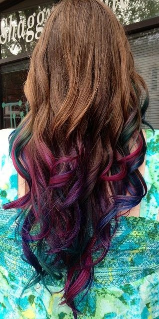 mechas californianas rojas cabellos castanos