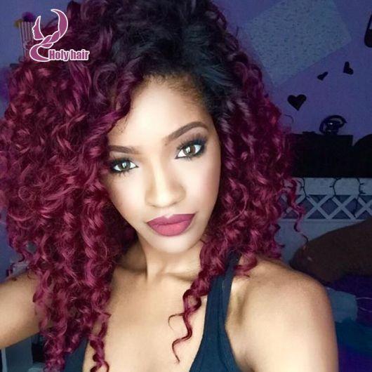 mechas californianas rojas cabellos rizados