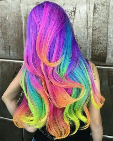 mechas de colores fantasia arco iris