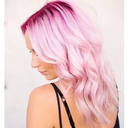 mechas de colores rosa