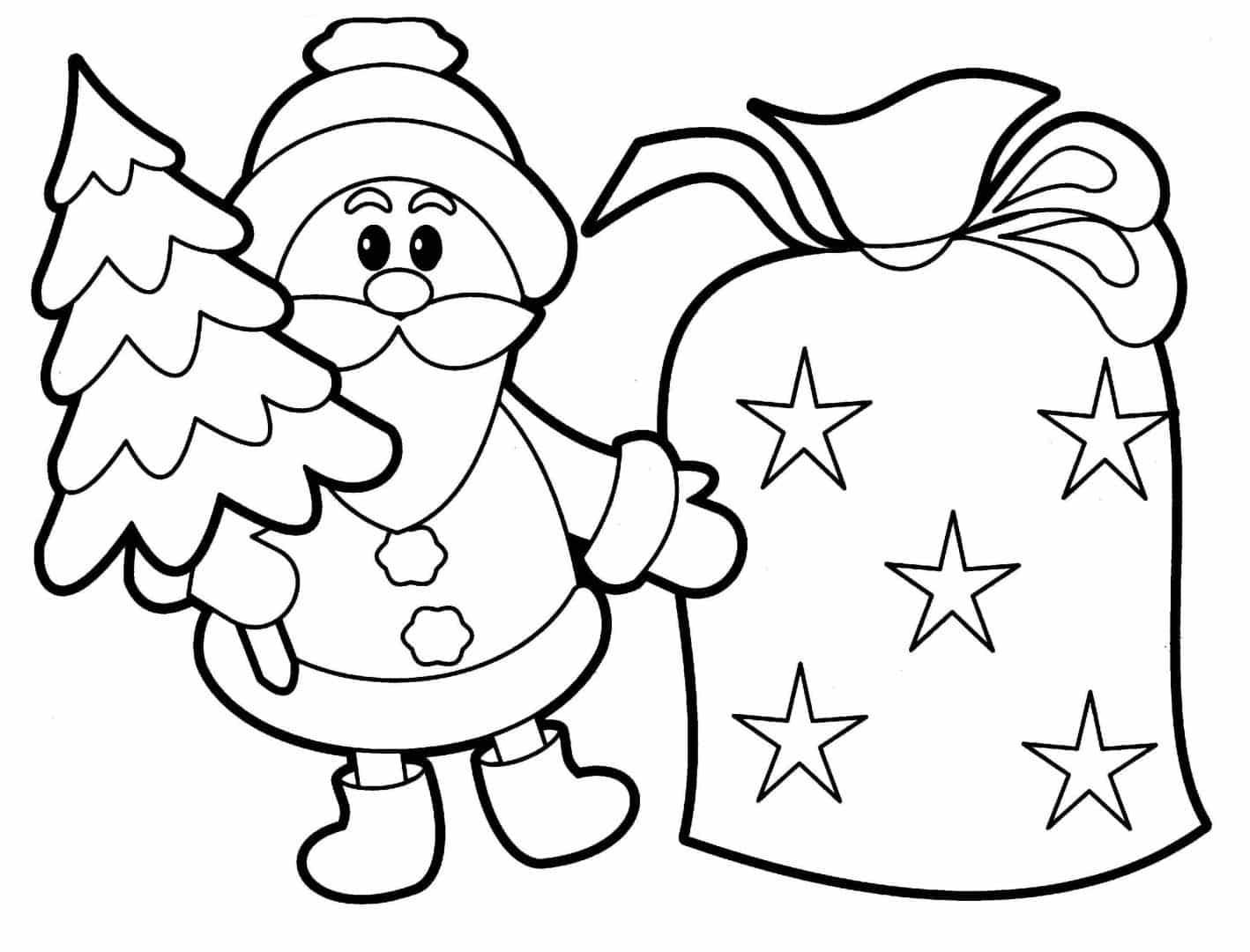Dibujos De Navidad Faciles Para Colorear Imprimir Y A Color