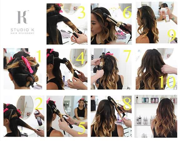 pasos hacer ondas cabello