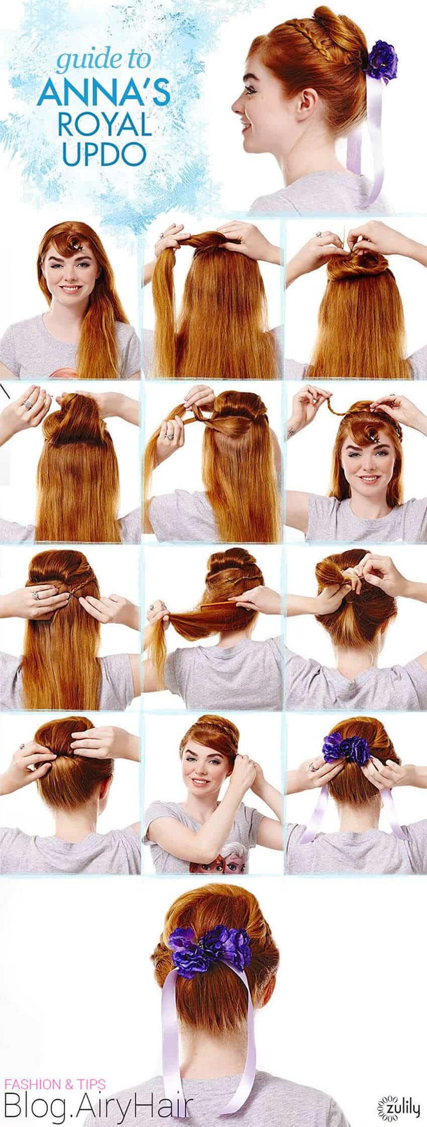Peinados De Elsa Y Anna De Frozen Para Niñas Mujeres Femeninas