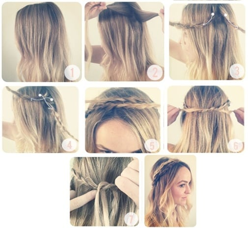 7 pasos de peinados fáciles para hacerte un recogido del cabello con la  trenza que esta de moda