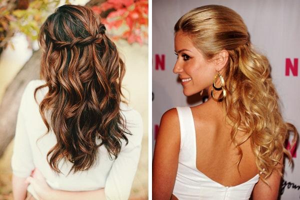 peinado de novia en media cola