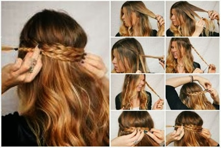 peinados fciles juveniles con trenzas para fiestas o eventos explicado paso a paso en fotos - Peinados Fciles