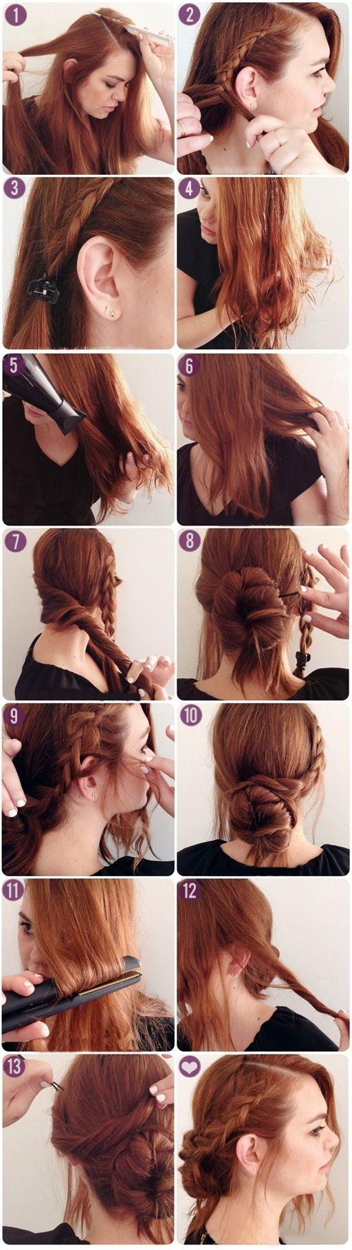 Peinados faciles para cabello largo en capas