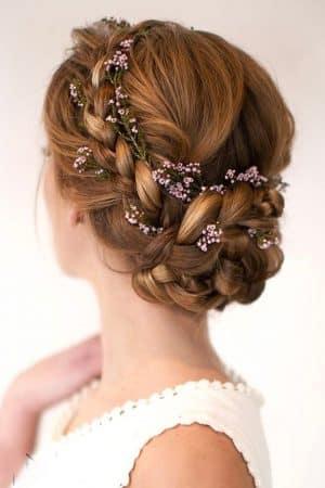 peinado para boda recogido trenzado
