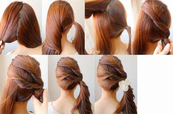 Tienes el cabello largo pero quieres ver como te queda corto te muestro paso a paso como se realiza este peinado