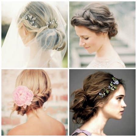peinados boda novia recogido con trenza de espiga