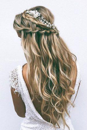 peinados boda trenzaz cascada cabello suelto