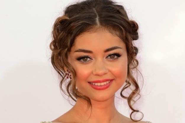 hairstyles with waves collected curly with stripe in the middle