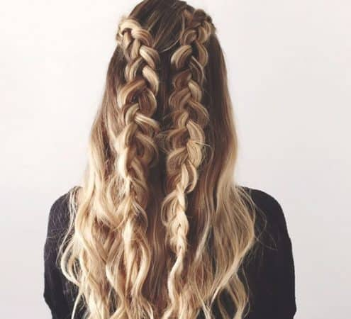 double braids wave hairstyles