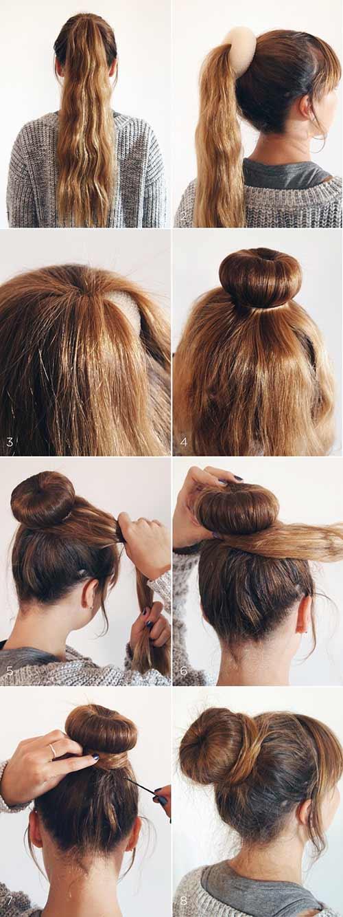 peinados crepe chongo