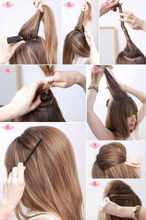 peinados crepe recogido