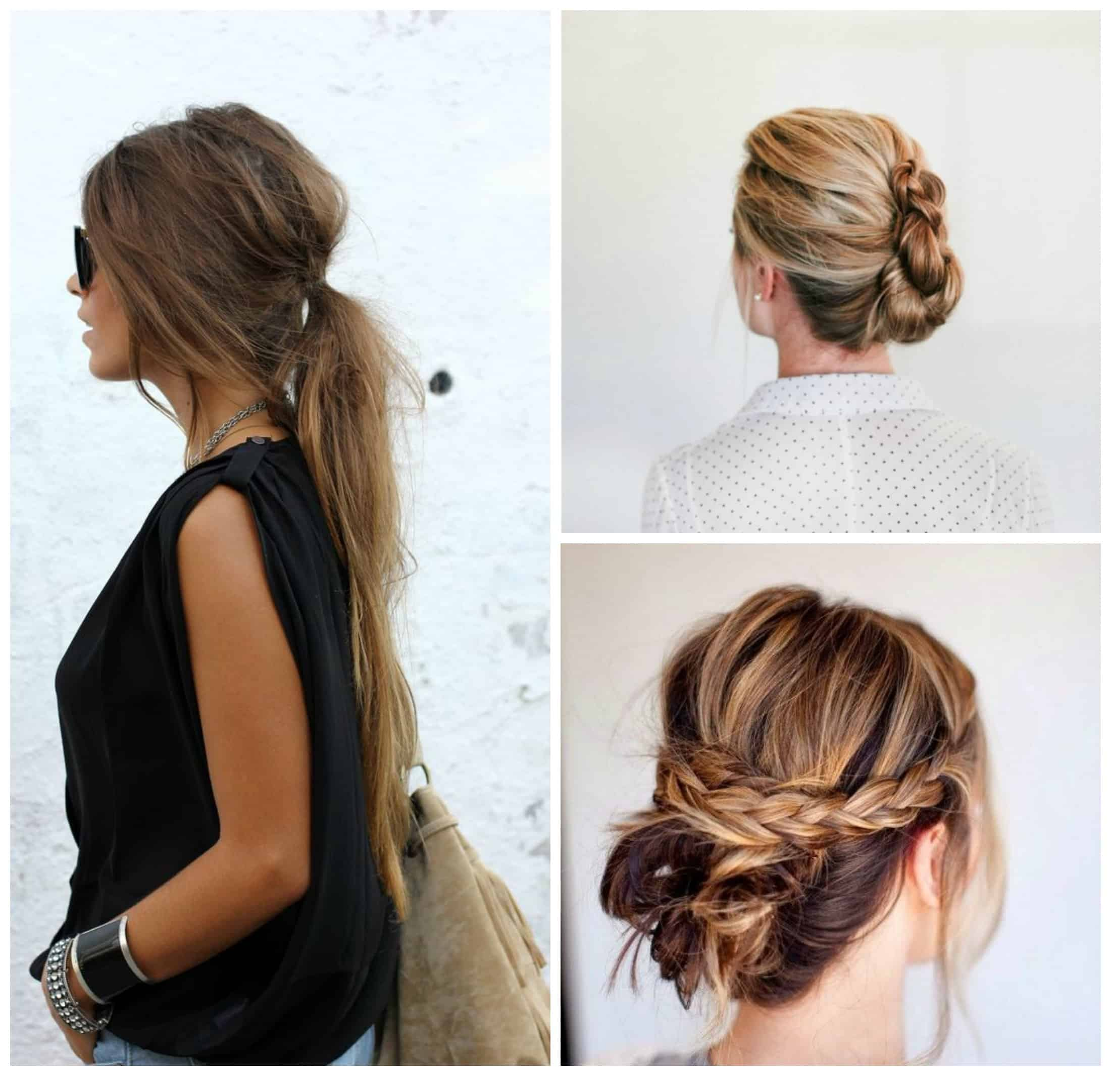 Tendencias de peinados f ciles r pidos y elegantes mas for Recogidos bonitos y sencillos
