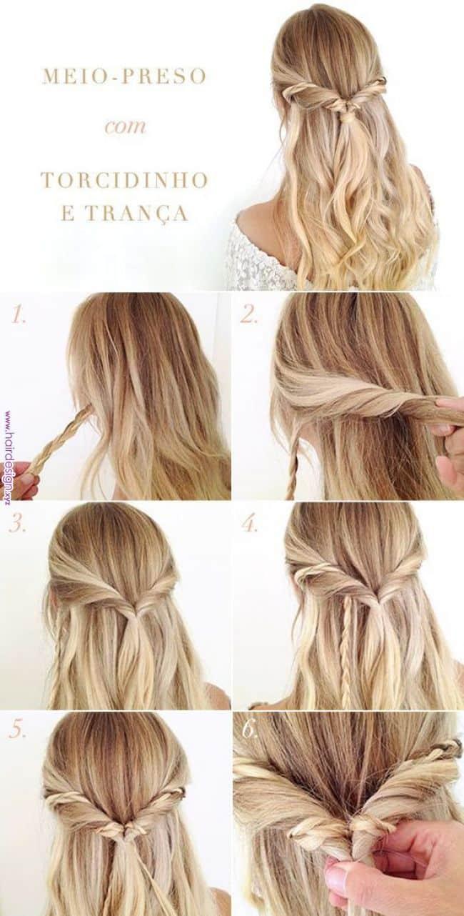 peinados media cola bohemio