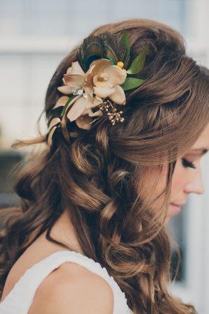 peinados para boda aplique flores
