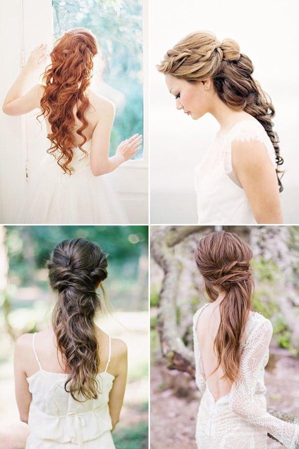 peinados para bodas pelo largo