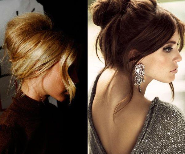 para resaltar la belleza puedes dejar caer mechas de pelo recogido en estos peinados chulos con chongos - Peinados Chulos