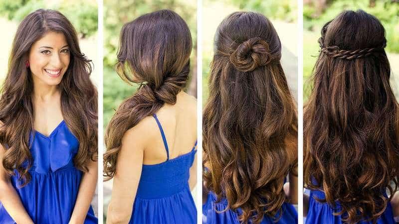 Peinados rapidos y faciles para cabello largo