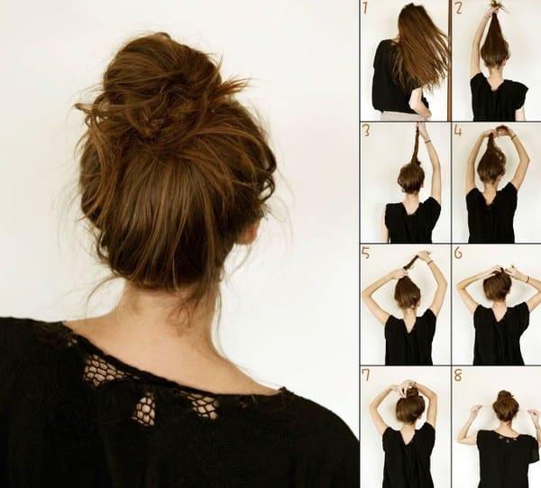 Sencillo peinado que te lo muestro como se hace paso a paso para seguir este tutorial en la imagen que esta bien representado