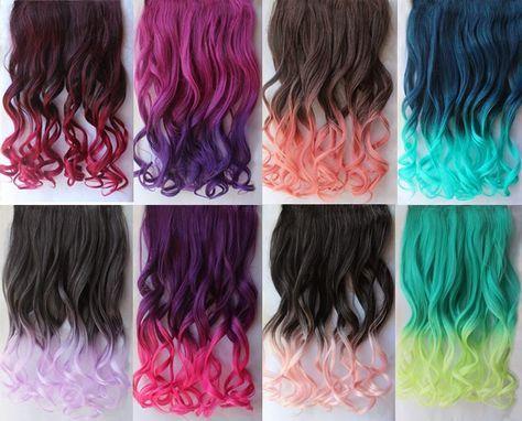 Mechas de colores en pelo oscuro