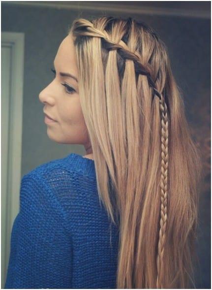 Peinados con el pelo suelto y trenzas