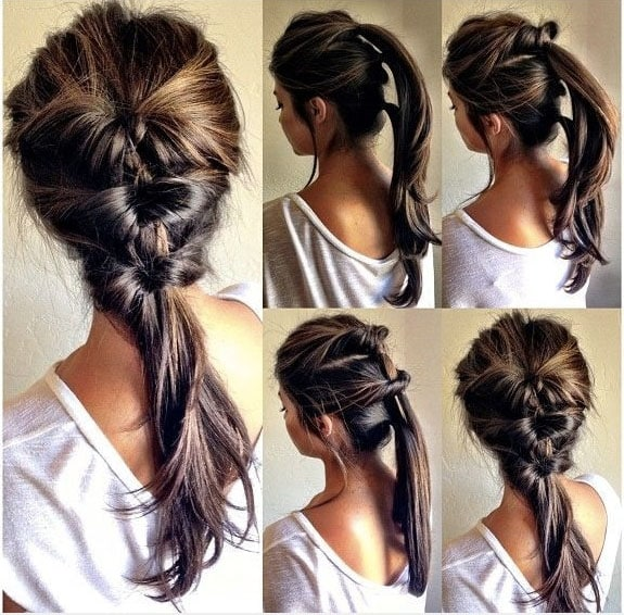 Trenza en este peinado que lleva poco tiempo que sirve para un peinado formal o de gala. trenza recogido