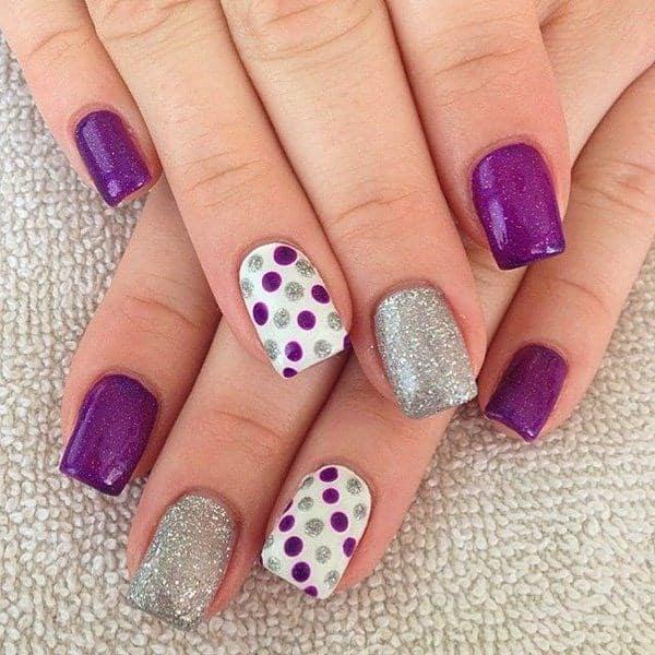 uas a 3 colores violeta blanco y plateado